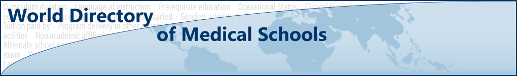 World Directory of Medical Schools Search